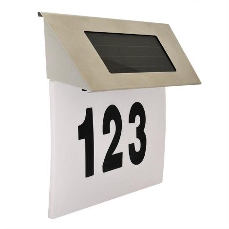 LED Solární domovní číslo LED/1,2V IP44