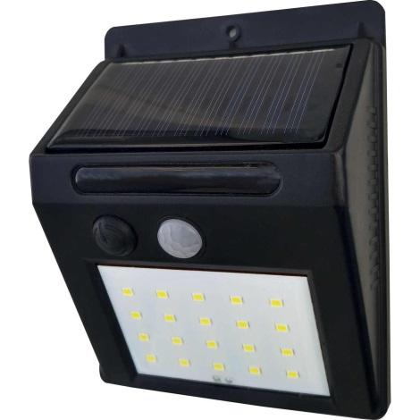 LED Solární nástěnné svítidlo se senzorem LED/3W IP44