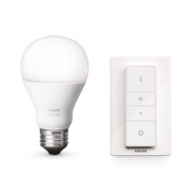 LED stmívatelná žárovka Philips HUE WIRELESS DIMMING KIT 1xE27/9,5W/230V - 8718696452523