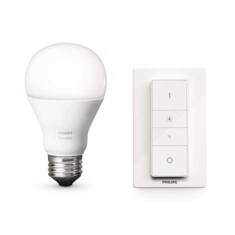 LED stmívatelná žárovka Philips HUE WIRELESS DIMMING KIT 1xE27/9,5W/230V - 8718696452523