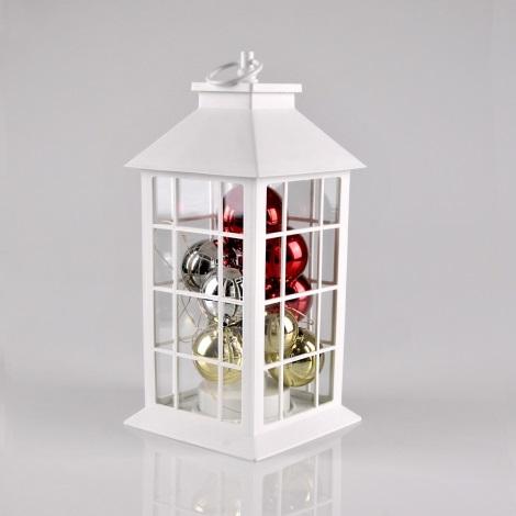 LED Venkovní solární vánoční dekorace LED/3xAAA IP44 lucerna bílá baňky