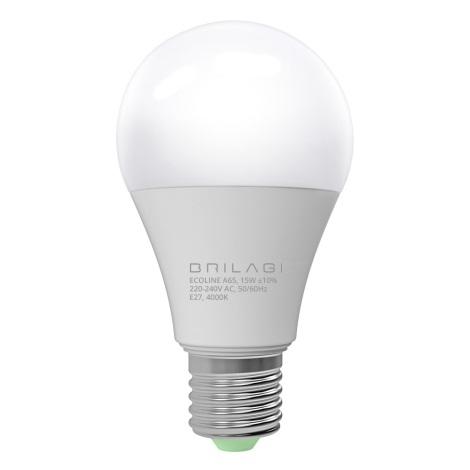 LED Žárovka ECOLINE A65 E27/15W/230V 4000K - Brilagi