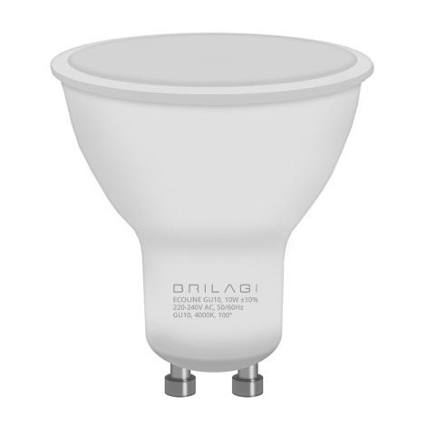 LED Žárovka ECOLINE GU10/10W/230V 4000K - Brilagi