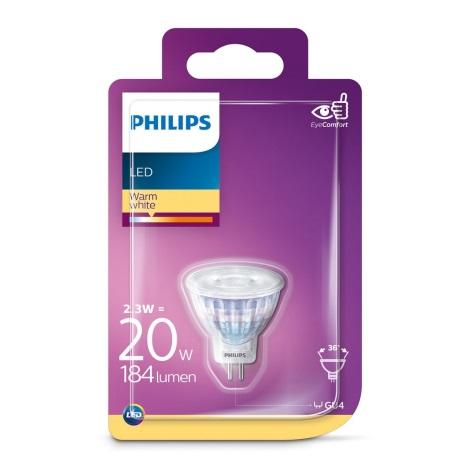 LED Žárovka Philips GU4/2,3W/12V 2700K