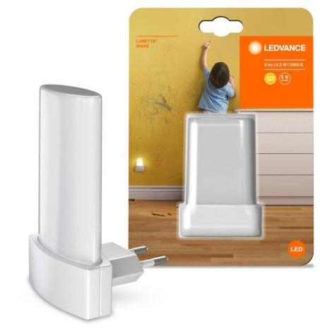 Ledvance - LED Noční světlo se senzorem LUNETTA LED/0,28W/230V