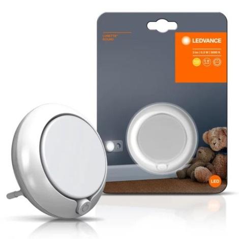 Ledvance - LED Noční světlo se senzorem LUNETTA LED/0,3W/230V