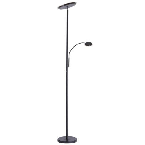 Leuchten Direkt 11709-18 - LED Stmívatelná stojací lampa HANS LED/22W/230V + LED/4W