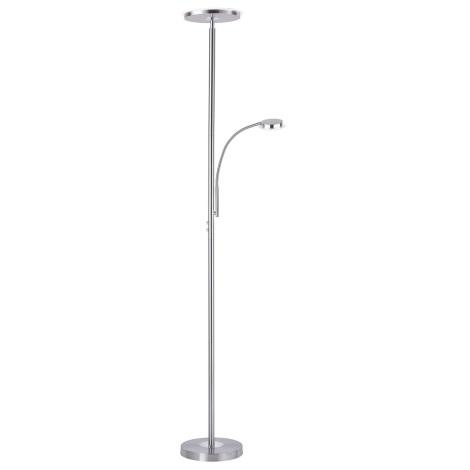 Leuchten Direkt 11709-55 - LED Stmívatelná stojací lampa HANS LED/22W/230V + LED/4W