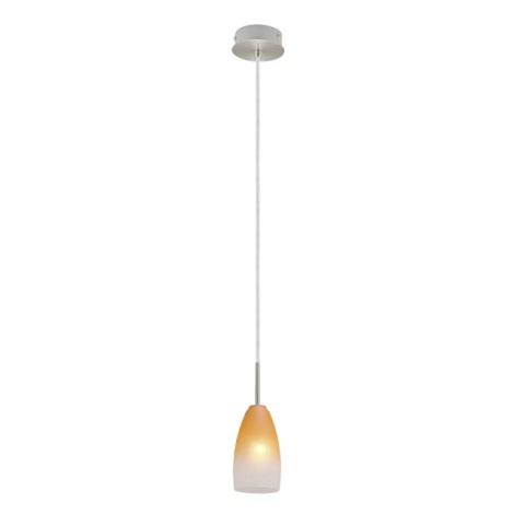 Lustr 27316 1xE14/40W matný chrom / bílá / oranžová