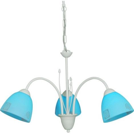 Lustr ROTO 3xE27/60W stříbrná/modrá
