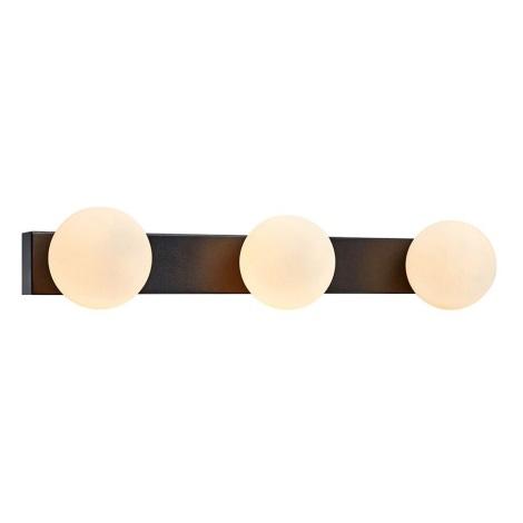 Markslöjd 107205 - Stmívatelné koupelnové nástěnné svítidlo MINI 3xG9/18W/230V IP44 černá