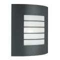 Massive 01726/01/93 - Venkovní nástěnné svítidlo OSLO 1xE27/60W tmavá šedá IP44