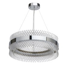 MW-LIGHT - LED Lustr na lanku CRYSTAL LED/52W/230V chrom