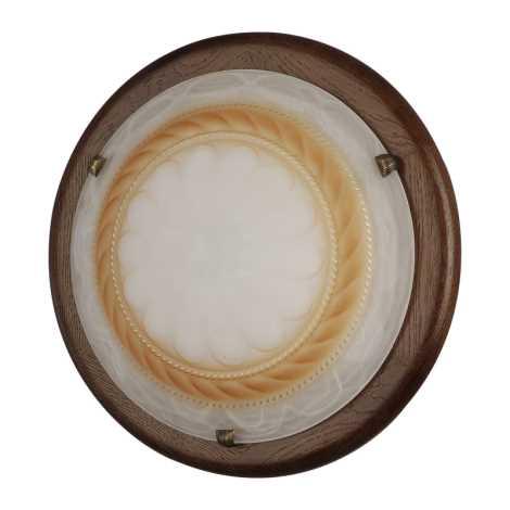 Nástěnné stropní svítidlo RODOS - KL129 460mm ořechové dřevo