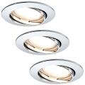 Paulmann 92780 - SADA 3xLED/6,8W Koupelnové podhledové svítidlo COIN 230V