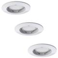 Paulmann 92823 - SADA 3xLED/7W IP44 Stmívatelné koupelnové podhledové svítidlo COIN 3xLED/7W/230V