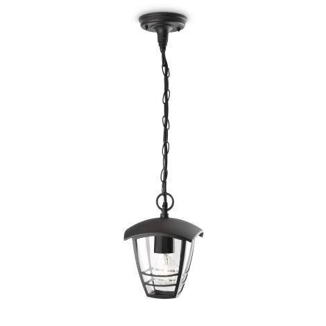 Philips 15386/30/16 - Venkovní závěsný lustr MYGARDEN CREEK 1xE27/60W/230V černá IP44