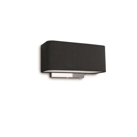 Philips 36337/30/16 - Svítidlo nástěnné CLEMENT 1xE27/23W čern