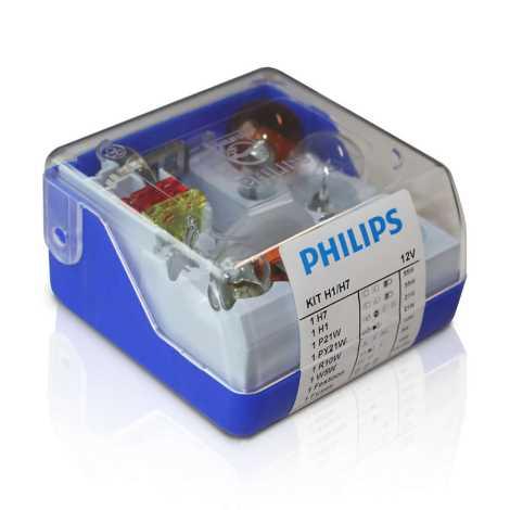 Philips 55007SKKM - Sada náhradních autožárovek H7/H1 12V