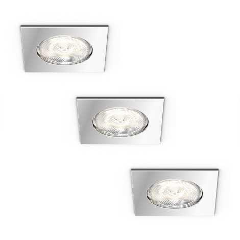 Philips 59007/11/P0 - SADA 3x LED Koupelnové svítidlo DREAMINESS 3xLED/4,5W IP65