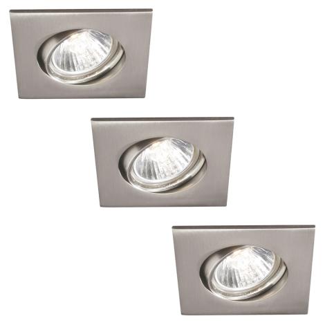 Philips 59473/17/16 - SADA 3x Koupelnové podhledové svítidlo MYLIVING CAPELLA 3xGU10/35W/230V nerez