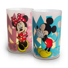 Philips 71712/55/16 - LED stolní lampa CANDLES MICKEY & MINNIE MOUSE (sada 2ks.) 1xLED/0,125W/230V