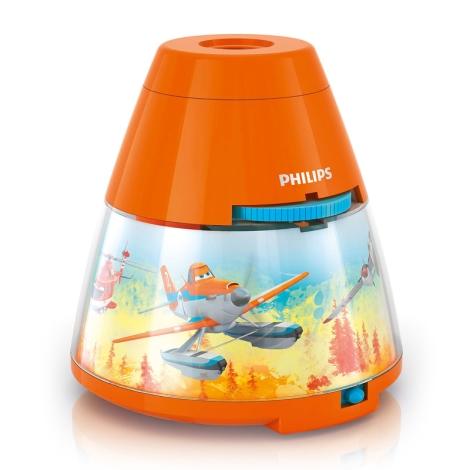 Philips 71769/53/16 - LED dětská lampa PLANES 1xLED/0,1W + 3xLED/0,3W/3xAA projektor