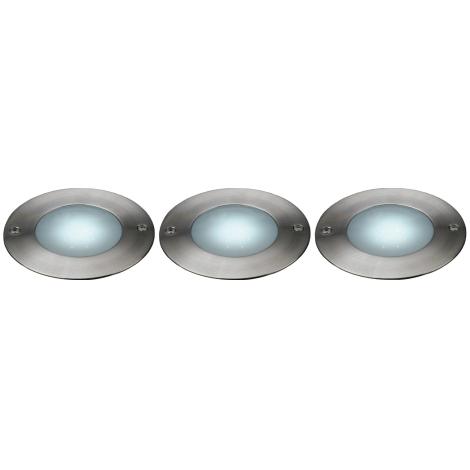 Philips Massive 17078/47/10 - SADA 3x LED Venkovní nájezdové svítidlo LAKONIA 3xLED/0,36W