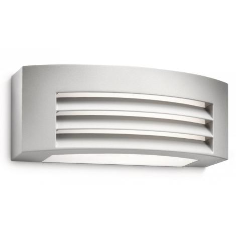 Philips Massive 17105/87/10 - Nástěnné svítidlo DURBAN 2xG23/9W šedá