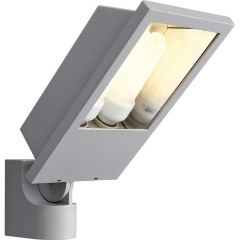 Philips Massive 17515/87/10 - Nástěnné svítidlo LAGOS 2xE27/23W metalicky šedá