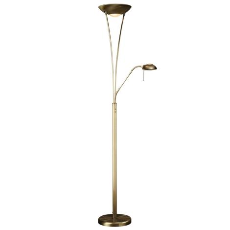 Philips Massive 42070/06/10 - Stmívací stojací lampa MAMO 1xR7S118/300W + 1xG9/40W antická bronzová