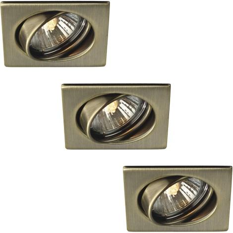 Philips Massive 59323/06/10 - SADA 3x Koupelnové podhledové svítidlo QUARTZ 1xGU10/50W/230V