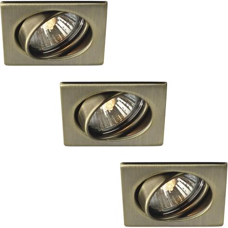 Philips Massive 59323/06/10 - SADA 3x Koupelnové podhledové svítidlo QUARTZ 3xGU10/50W/230V