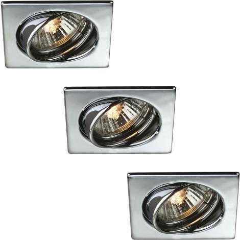 Philips Massive 59323/11/10 - SADA 3x Koupelnové podhledové svítidlo QUARTZ 3xGU10/50W/230V