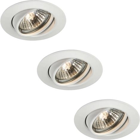 Philips Massive 59333/31/10 - SADA 3x Koupelnové podhledové svítidlo OPAL 1xGU10/50W/230V bílá