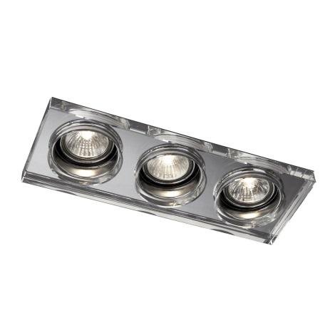 Philips Massive 59563/11/10 - Koupelnové podhledové svítidlo SAPPHIRE 3xGU10/50W/230V