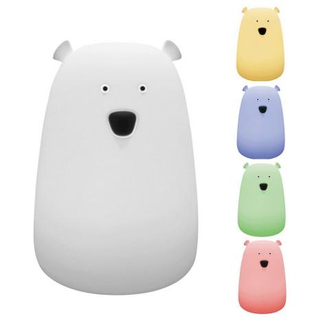 Rabalux 5409 - LED RGB Dětská lampička BALOO LED/0,4W medvěd
