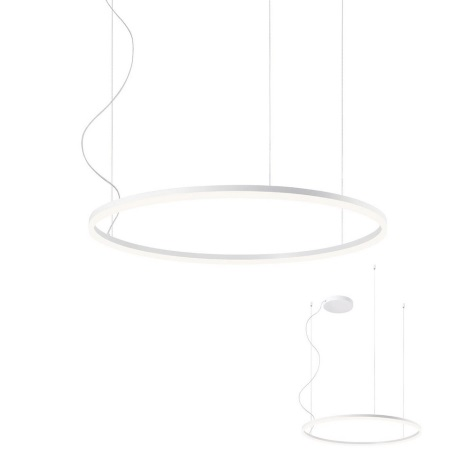 Redo 01-1712 - LED Lustr na lanku ORBIT LED/55W/230V bílá