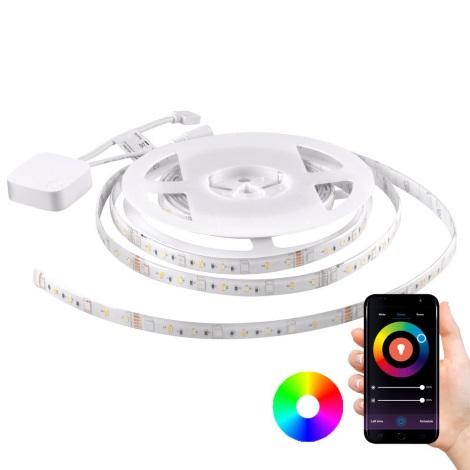 RGB LED Stmívatelný pásek Wi-Fi + hudební funkce LED/20W 5 m Tuya