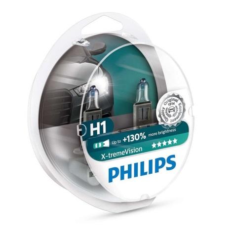 SADA 2x Autožárovka Philips X-TREME VISION 12258XVS2 H1 P14,5s/55W/12V