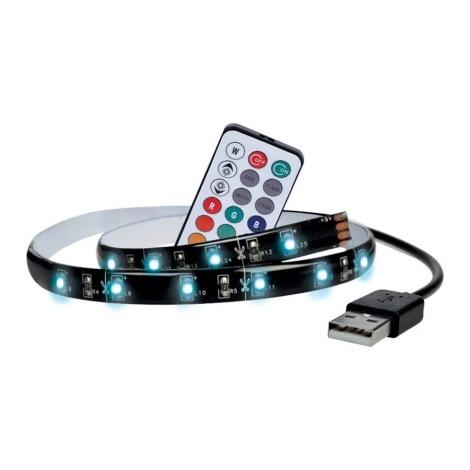 SADA 2x LED RGB Pásek pro TV s dálkovým ovladačem IP65 LED/USB 50cm
