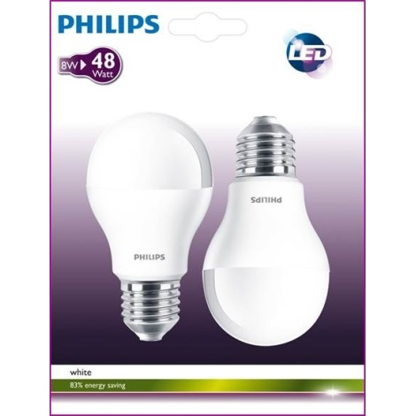 SADA 2x LED žárovka E27/7W LED ECONOMY TWISTER teplá bílá