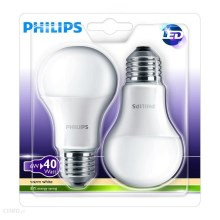 SADA 2x LED žárovka Philips E27/6W/230V
