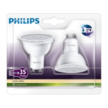 SADA 2x LED žárovka Philips GU10/3,5W/230V