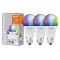 SADA 3x LED RGBW Stmívatelná žárovka SMART+ E27/9W/230V 2700K-6500K Wi-Fi - Ledvance