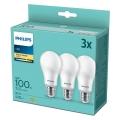 SADA 3x LED Žárovka Philips A67 E27/14W/230V 2700K
