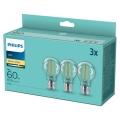 SADA 3x LED Žárovka VINTAGE Philips A60 E27/7W/230V 2700K
