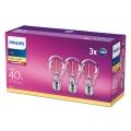 SADA 3x LED Žárovka VINTAGE Philips E27/4,3W/230V 2700K