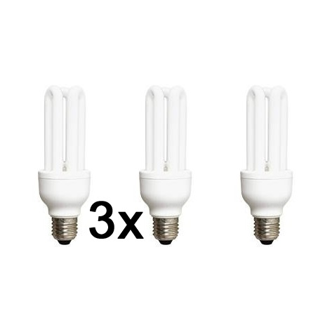 SADA 3x Úsporná žárovka E27/22W 2700k