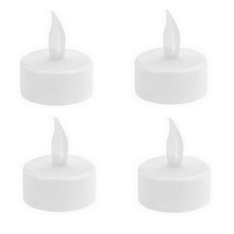 SADA 4x LED Dekorační svíčka TEALIGHT 4xLED/4xCR2032